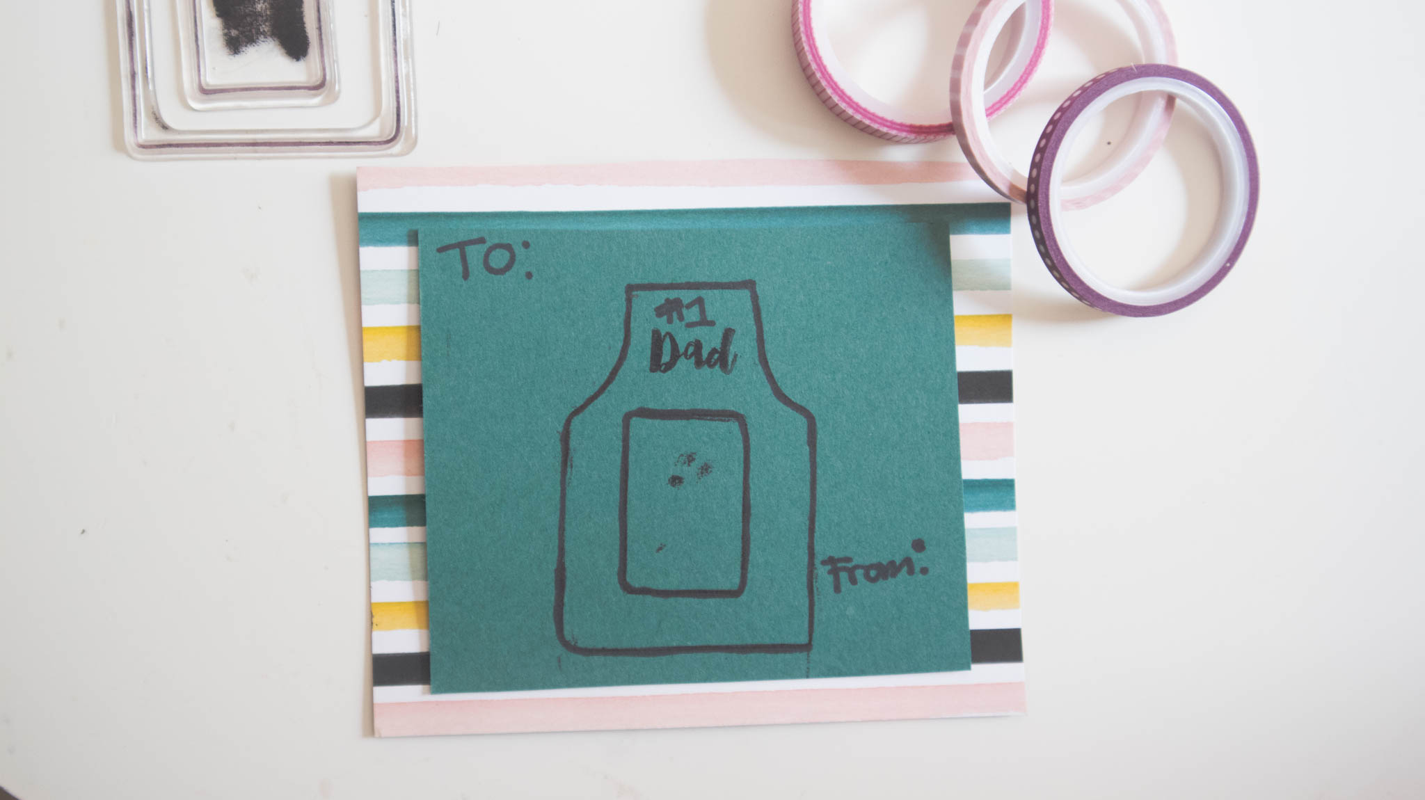 Stampin' Up! DIY Fathers Day Card